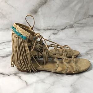 💥 NWT Schutz suede fringed sandals